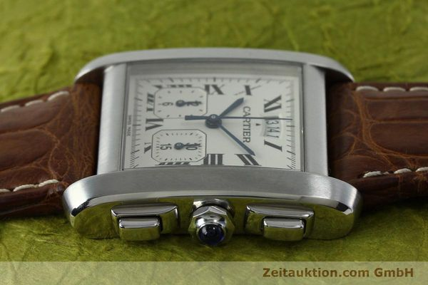 Used luxury watch Cartier Tank chronograph steel quartz Kal. 222 Ref. 2531   | 152235 05