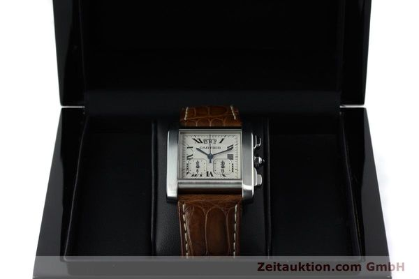 Used luxury watch Cartier Tank chronograph steel quartz Kal. 222 Ref. 2531   | 152235 07
