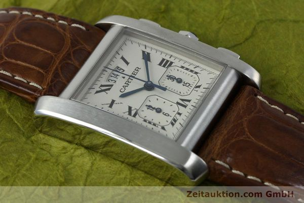 Used luxury watch Cartier Tank chronograph steel quartz Kal. 222 Ref. 2531   | 152235 12