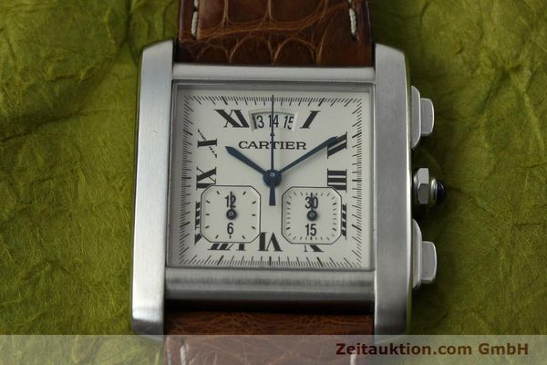 Used luxury watch Cartier Tank chronograph steel quartz Kal. 222 Ref. 2531   | 152235 13