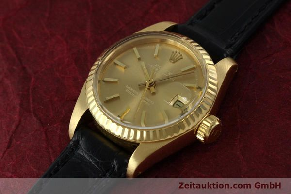 Used luxury watch Rolex Lady Datejust 18 ct gold automatic Kal. 2030 Ref. 6917  | 152239 01