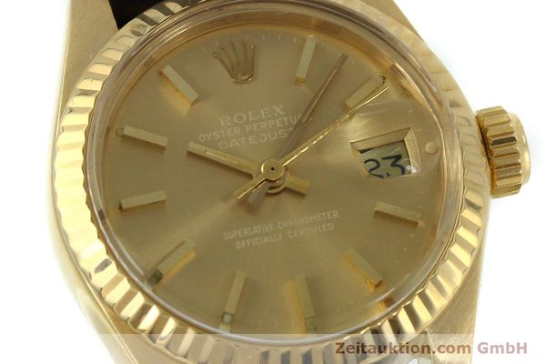 Used luxury watch Rolex Lady Datejust 18 ct gold automatic Kal. 2030 Ref. 6917  | 152239 02