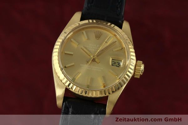 Used luxury watch Rolex Lady Datejust 18 ct gold automatic Kal. 2030 Ref. 6917  | 152239 04