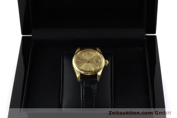 Used luxury watch Rolex Lady Datejust 18 ct gold automatic Kal. 2030 Ref. 6917  | 152239 07