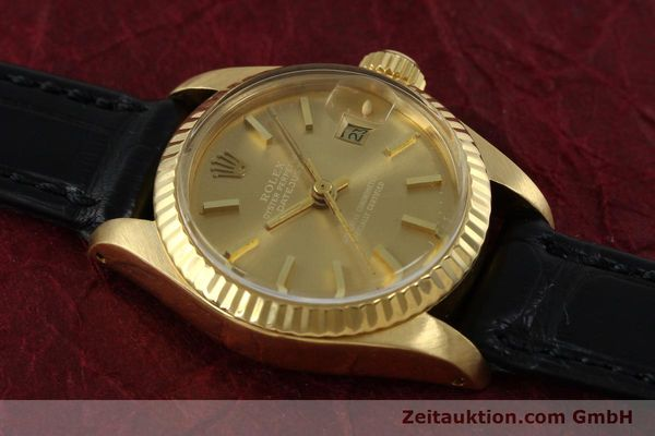 Used luxury watch Rolex Lady Datejust 18 ct gold automatic Kal. 2030 Ref. 6917  | 152239 13