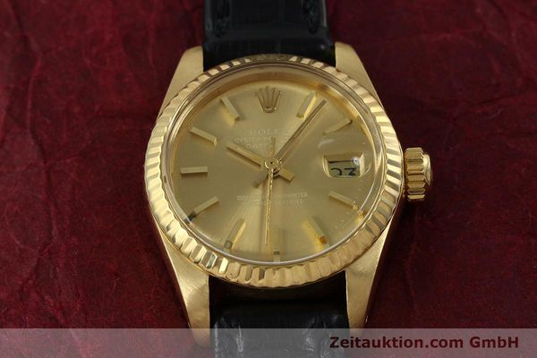 Used luxury watch Rolex Lady Datejust 18 ct gold automatic Kal. 2030 Ref. 6917  | 152239 14