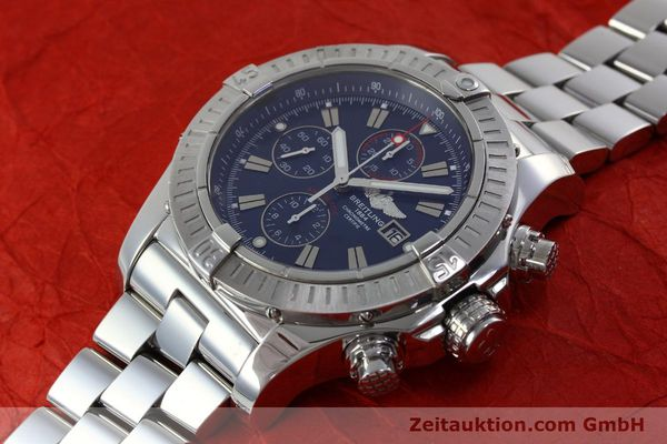 Used luxury watch Breitling Avenger chronograph steel automatic Kal. B13 ETA 7750 Ref. A13370  | 152242 01