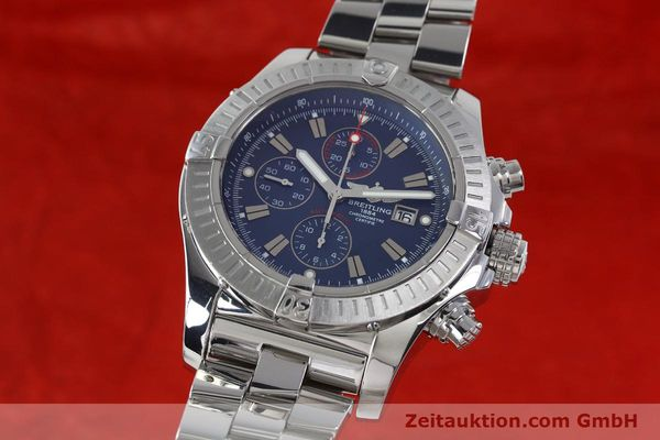 Used luxury watch Breitling Avenger chronograph steel automatic Kal. B13 ETA 7750 Ref. A13370  | 152242 04