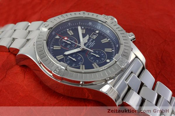 Used luxury watch Breitling Avenger chronograph steel automatic Kal. B13 ETA 7750 Ref. A13370  | 152242 14