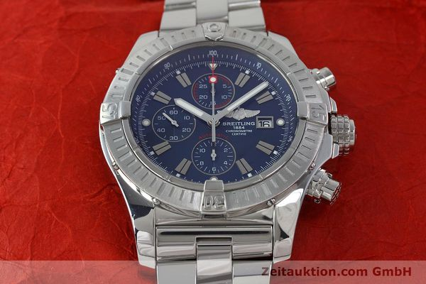 Used luxury watch Breitling Avenger chronograph steel automatic Kal. B13 ETA 7750 Ref. A13370  | 152242 15