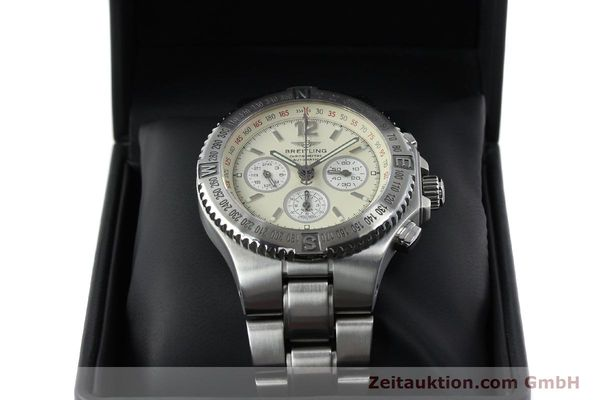 Used luxury watch Breitling Hercules chronograph steel automatic Kal. B39 ETA 2892A2 Ref. A39363  | 152244 07