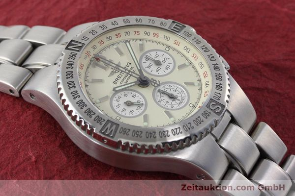 Used luxury watch Breitling Hercules chronograph steel automatic Kal. B39 ETA 2892A2 Ref. A39363  | 152244 14