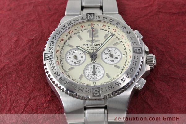 Used luxury watch Breitling Hercules chronograph steel automatic Kal. B39 ETA 2892A2 Ref. A39363  | 152244 15
