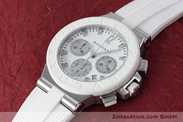 Used luxury watch Bvlgari Diagono chronograph steel automatic Kal. 080TEEV Ref. DG40SCH  | 152245 01