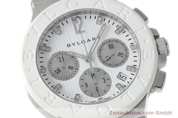 Used luxury watch Bvlgari Diagono chronograph steel automatic Kal. 080TEEV Ref. DG40SCH  | 152245 02