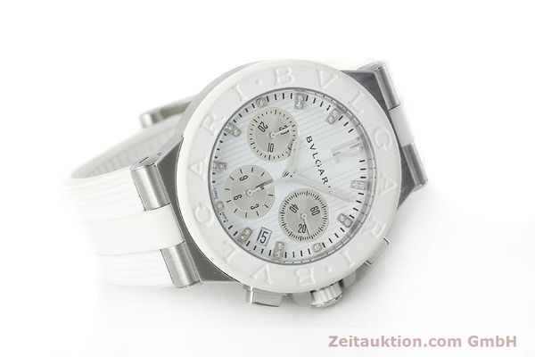 Used luxury watch Bvlgari Diagono chronograph steel automatic Kal. 080TEEV Ref. DG40SCH  | 152245 03