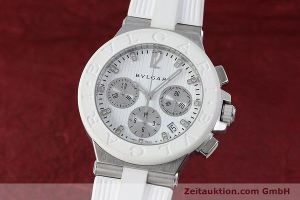 Used luxury watch Bvlgari Diagono chronograph steel automatic Kal. 080TEEV Ref. DG40SCH  | 152245 04