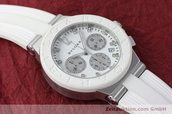 Used luxury watch Bvlgari Diagono chronograph steel automatic Kal. 080TEEV Ref. DG40SCH  | 152245 13