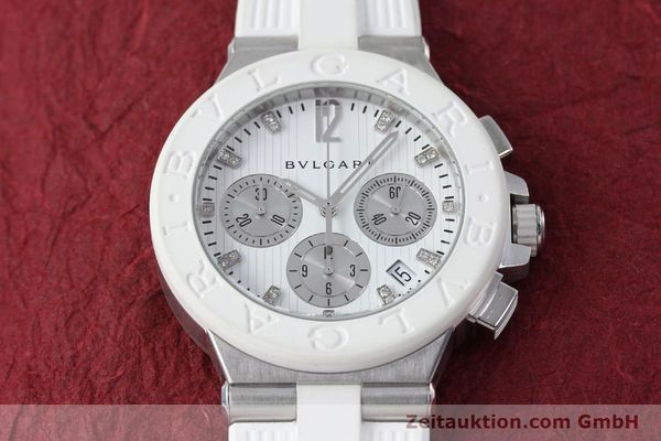 Used luxury watch Bvlgari Diagono chronograph steel automatic Kal. 080TEEV Ref. DG40SCH  | 152245 14