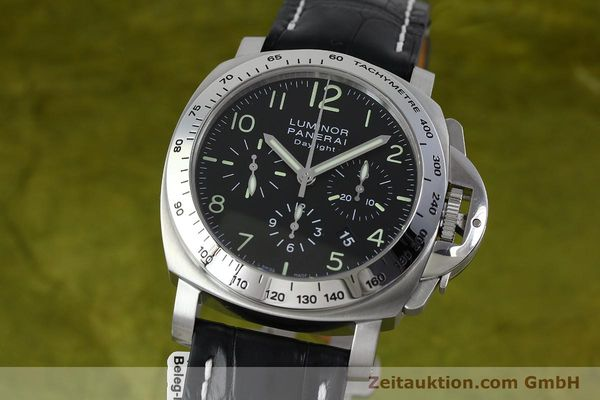 Used luxury watch Panerai Luminor Chrono Daylight chronograph steel automatic Kal. ETA 7753 Ref. OP6595 LIMITED EDITION | 152249 04