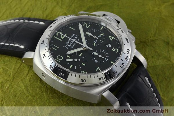 Used luxury watch Panerai Luminor Chrono Daylight chronograph steel automatic Kal. ETA 7753 Ref. OP6595 LIMITED EDITION | 152249 14