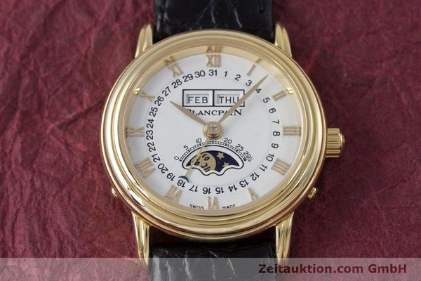 Used luxury watch Blancpain Villeret 18 ct gold automatic Kal. 6395 Ref. 6395-1418  | 152254 14
