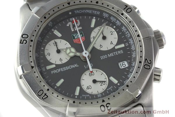 Used luxury watch Tag Heuer Professional chronograph steel quartz Kal. 4.98 ETA 251262  | 152256 02