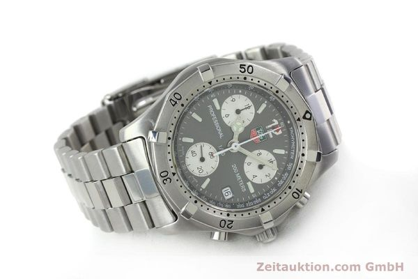 Used luxury watch Tag Heuer Professional chronograph steel quartz Kal. 4.98 ETA 251262  | 152256 03