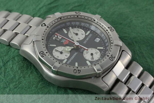 Used luxury watch Tag Heuer Professional chronograph steel quartz Kal. 4.98 ETA 251262  | 152256 14