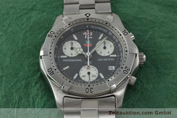 Used luxury watch Tag Heuer Professional chronograph steel quartz Kal. 4.98 ETA 251262  | 152256 15