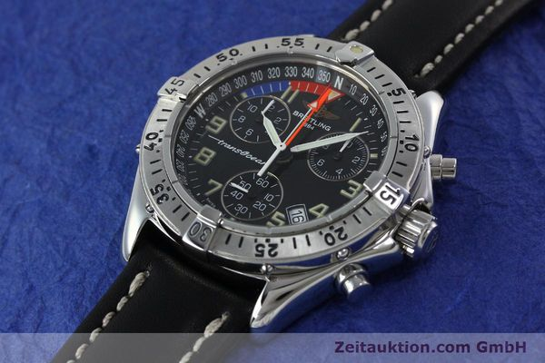 Used luxury watch Breitling Transocean chronograph steel quartz Kal. B53 ETA 251233 Ref. A53040.1  | 152267 01