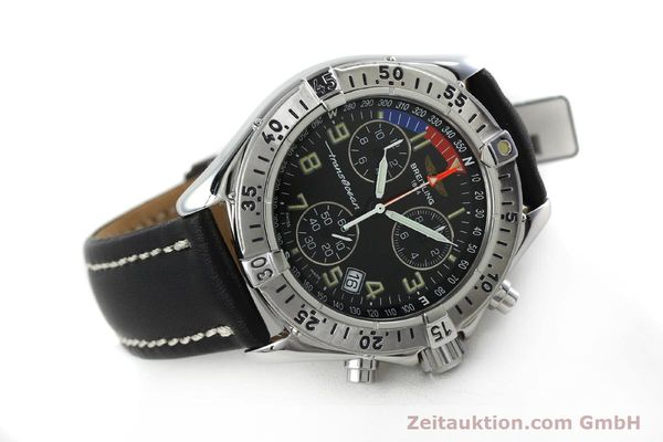 Used luxury watch Breitling Transocean chronograph steel quartz Kal. B53 ETA 251233 Ref. A53040.1  | 152267 03