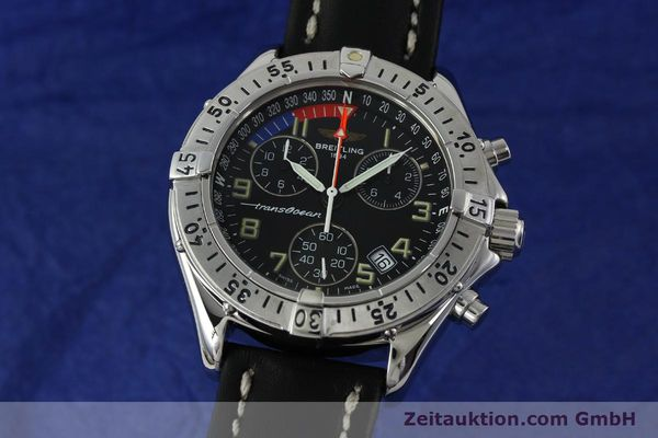 Used luxury watch Breitling Transocean chronograph steel quartz Kal. B53 ETA 251233 Ref. A53040.1  | 152267 04