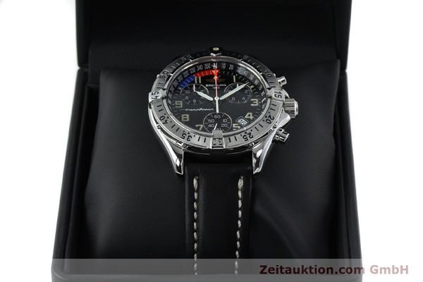 Used luxury watch Breitling Transocean chronograph steel quartz Kal. B53 ETA 251233 Ref. A53040.1  | 152267 07