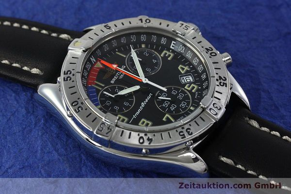 Used luxury watch Breitling Transocean chronograph steel quartz Kal. B53 ETA 251233 Ref. A53040.1  | 152267 12