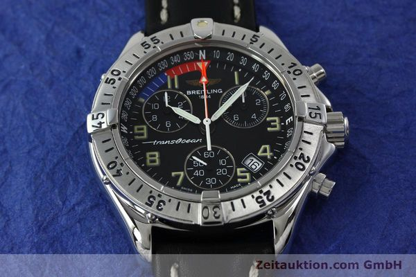 Used luxury watch Breitling Transocean chronograph steel quartz Kal. B53 ETA 251233 Ref. A53040.1  | 152267 13