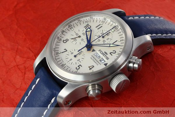 Used luxury watch Fortis B-42 chronograph steel automatic Kal. ETA 7750 Ref. 635.10.141  | 152270 01
