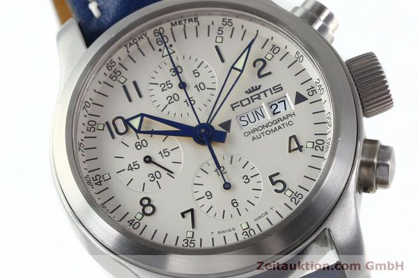 Used luxury watch Fortis B-42 chronograph steel automatic Kal. ETA 7750 Ref. 635.10.141  | 152270 02