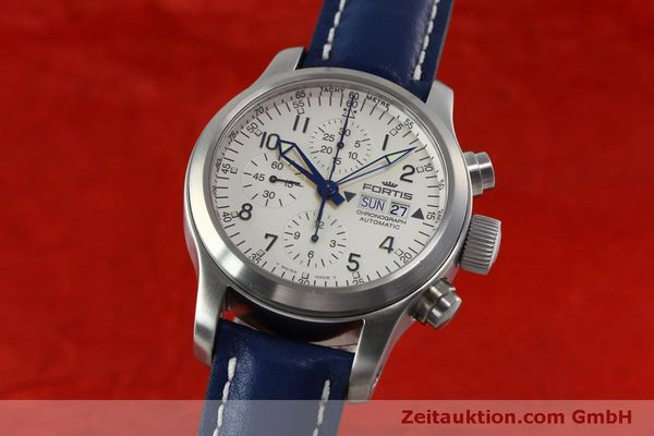 Used luxury watch Fortis B-42 chronograph steel automatic Kal. ETA 7750 Ref. 635.10.141  | 152270 04