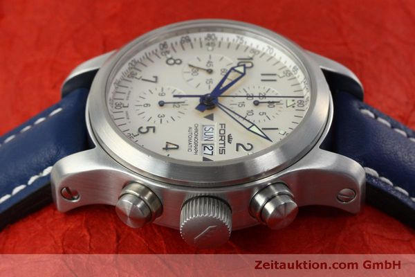 Used luxury watch Fortis B-42 chronograph steel automatic Kal. ETA 7750 Ref. 635.10.141  | 152270 05