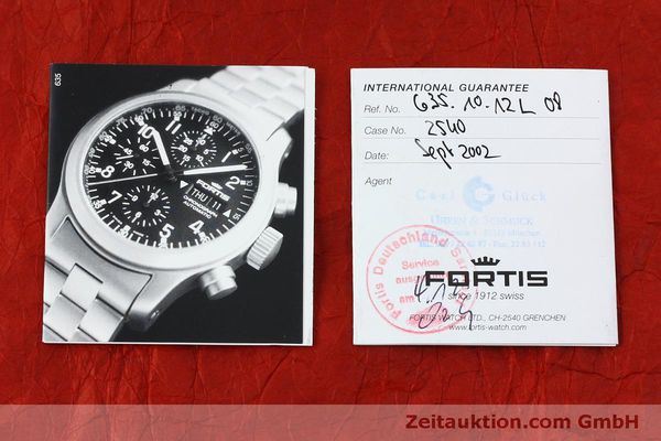 Used luxury watch Fortis B-42 chronograph steel automatic Kal. ETA 7750 Ref. 635.10.141  | 152270 08
