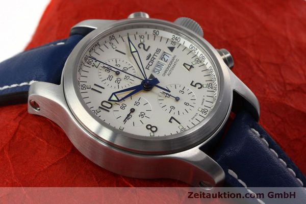 Used luxury watch Fortis B-42 chronograph steel automatic Kal. ETA 7750 Ref. 635.10.141  | 152270 15