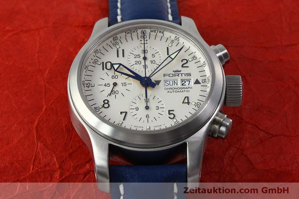 Used luxury watch Fortis B-42 chronograph steel automatic Kal. ETA 7750 Ref. 635.10.141  | 152270 16