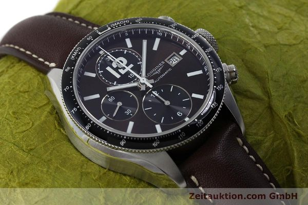 Used luxury watch Longines Grande Vitesse chronograph steel automatic Kal. L667.2 ETA 7750 Ref. L3.636.4  | 152272 15