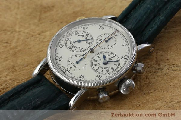 Used luxury watch Chronoswiss * chronograph steel / gold automatic Kal. 732 Ref. CH7323  | 152278 01
