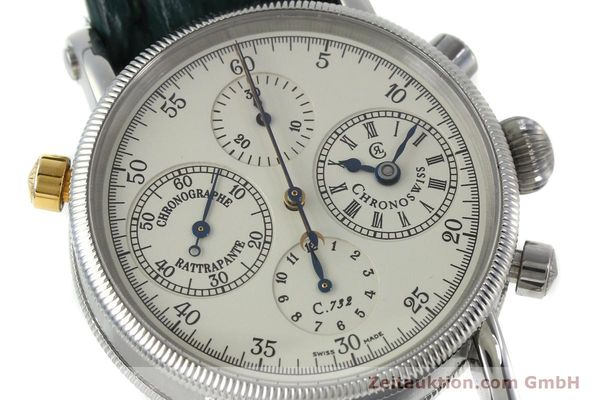 Used luxury watch Chronoswiss * chronograph steel / gold automatic Kal. 732 Ref. CH7323  | 152278 02