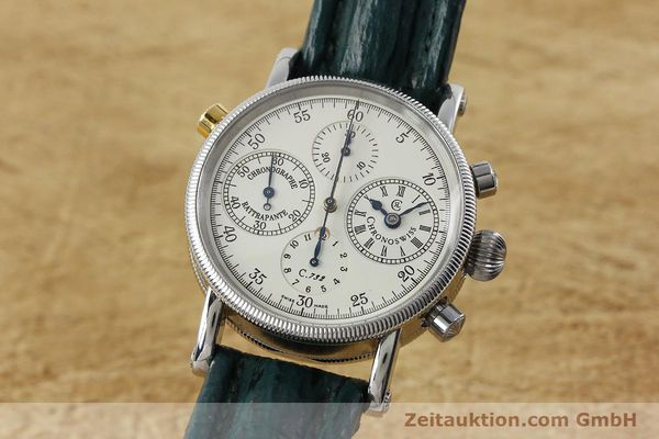 Used luxury watch Chronoswiss * chronograph steel / gold automatic Kal. 732 Ref. CH7323  | 152278 04