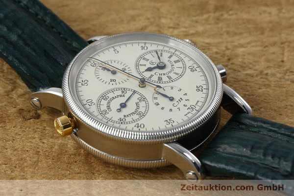 Used luxury watch Chronoswiss * chronograph steel / gold automatic Kal. 732 Ref. CH7323  | 152278 16