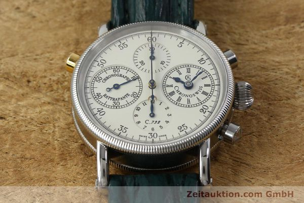 Used luxury watch Chronoswiss * chronograph steel / gold automatic Kal. 732 Ref. CH7323  | 152278 17