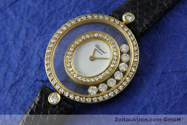 gebrauchte Luxusuhr Chopard Happy Diamonds 18k Gold Quarz Kal. ETA 201.001  | 152292 01